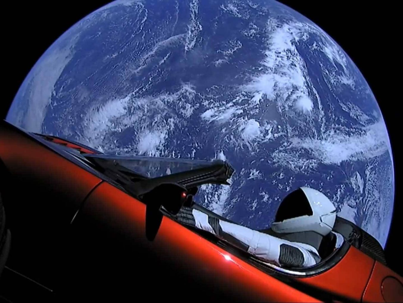 About a car in space & a blog